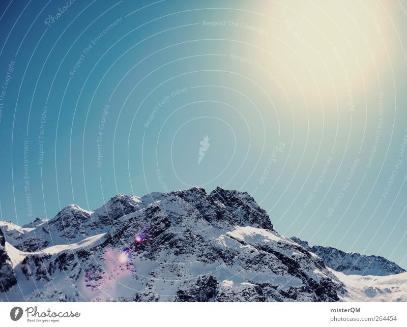 Sky Nature Sun Winter Calm Environment Landscape Cold Mountain Tall Esthetic Alps Snowscape Austria Slope Snowcapped peak