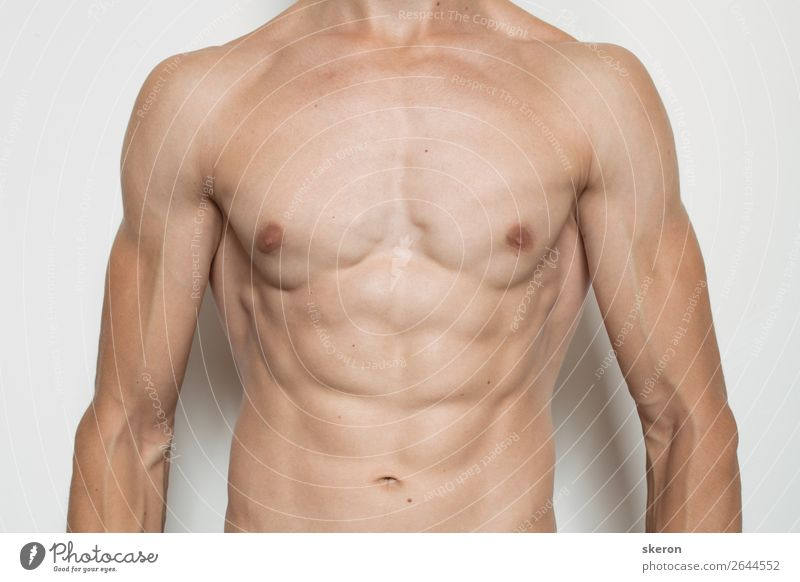 embossed torso of a young guy Lifestyle Beautiful Personal hygiene Wellness Harmonious Contentment Leisure and hobbies Party Sports Fitness Sports Training