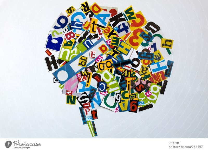 talk to me To talk Art Sign Characters Speech bubble Communicate Design Creativity Bright background Muddled Chaos Modern Future Ask Foreign language