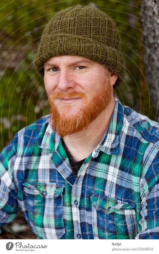 Portrait of red haired man looking at camera Style Hair and hairstyles Human being Man Adults Nature Forest Red-haired Moustache Beard Think Stand Cool (slang)