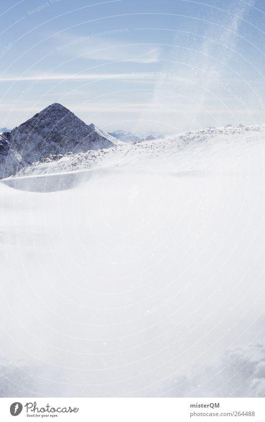 White Sun Winter Cold Snow Art Weather Esthetic Snowscape Austria Blue sky Snowflake Degrees Celsius Temperature Comfortless Snowstorm