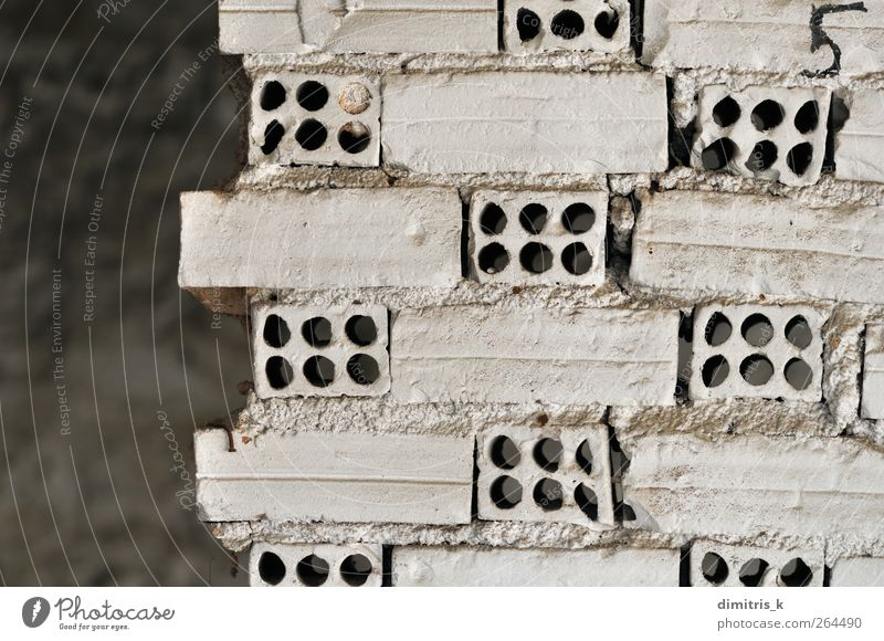 white brick wall Old White Wall (building) Architecture Wall (barrier) Building Dirty Concrete Derelict Brick Decline Ruin Surface Weathered Earth hole