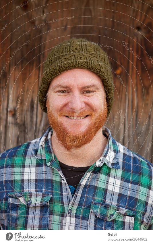Portrait of a hipster guy putting silly face Happy Hair and hairstyles Face Human being Boy (child) Man Adults Red-haired Beard Smiling Laughter Exceptional