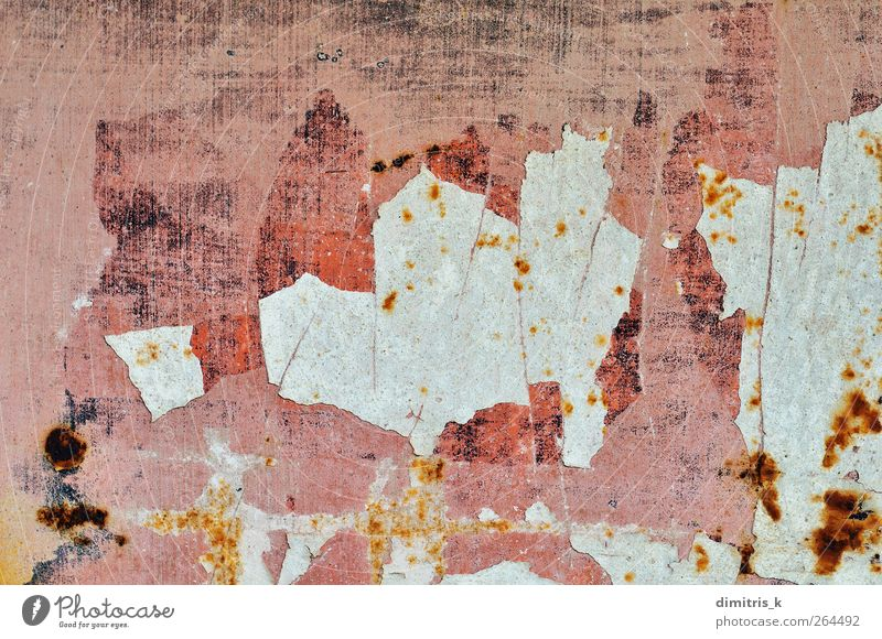chipped paint surface Industry Metal Steel Rust Old Faded Dirty Pink sheeting iron Grunge background Consistency Oxydation Erosion Age Industrial Surface urban