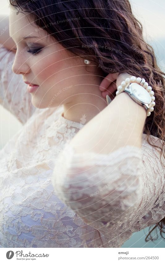 princess Feminine Young woman Youth (Young adults) 1 Human being 18 - 30 years Adults Fashion Accessory Brunette Long-haired Curl Beautiful Princess Lace