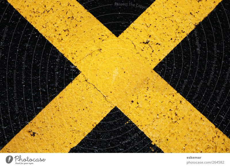 yellow cross Transport Street Sign Signs and labeling Road sign Simple Near Above Yellow Black Lanes & trails Target Crucifix Lane markings as folded Across