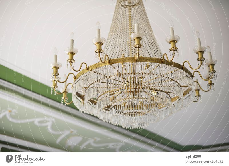 light Elegant Flat (apartment) Interior design Lamp Palace Castle Hang Old Esthetic Authentic Yellow Green White Power Might Contentment Candlestick Chandelier