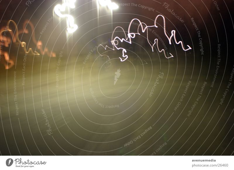 play of light °° Night Light Exposure Line Long exposure Street