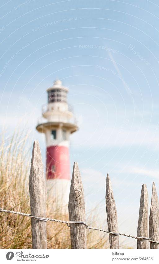 North Sea Romanticism II Coast Nieuwpoort Flanders Belgium Deserted Lighthouse Facade Window Tourist Attraction Red White Longing Homesickness Wanderlust Safety