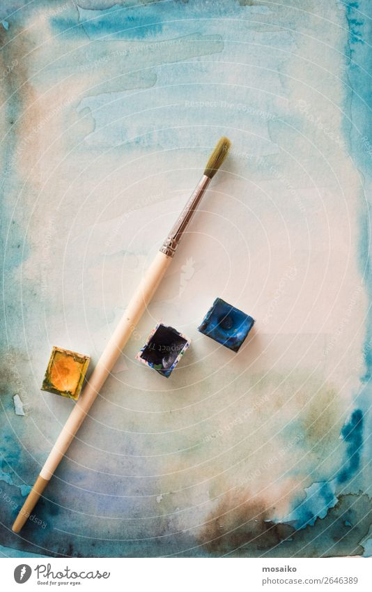 Blue Yellow Style Art School Design Leisure and hobbies Culture Esthetic Creativity Idea Painting (action, artwork) Break Education Harmonious Inspiration