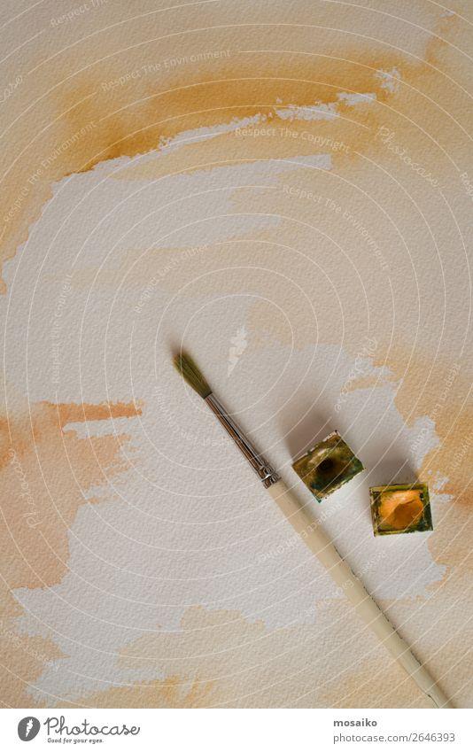Lifestyle Yellow Art School Brown Design Leisure and hobbies Esthetic Creativity Idea Paper Painting (action, artwork) Break Education Harmonious Inspiration