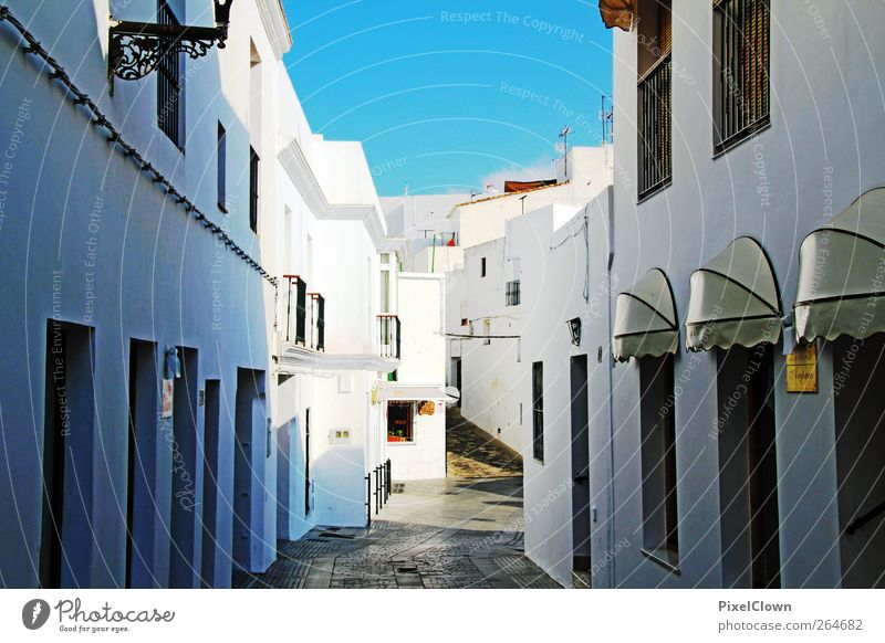 Blue White City Vacation & Travel Summer House (Residential Structure) Moody Beautiful weather Village Cloudless sky