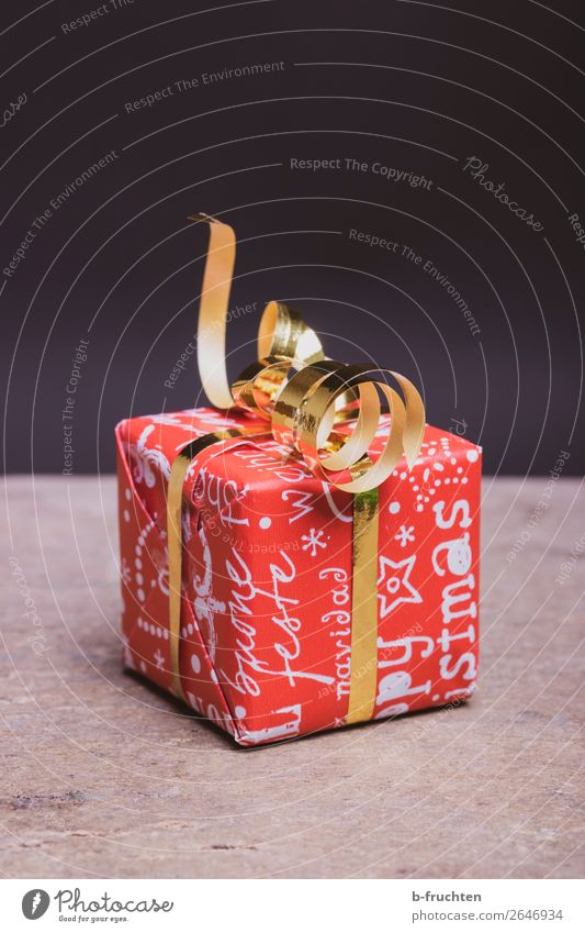 Christmas present Shopping Joy Save Christmas & Advent Packaging Decoration Bow Select Gold Red Solidarity Help Grateful Expectation Mysterious Curiosity