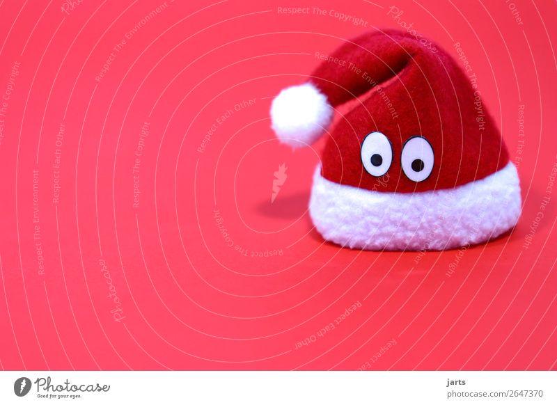müttzi Cap Cute Meditative Santa Claus hat Christmas & Advent Christmas decoration Eyes Colour photo Studio shot Close-up Deserted Copy Space left