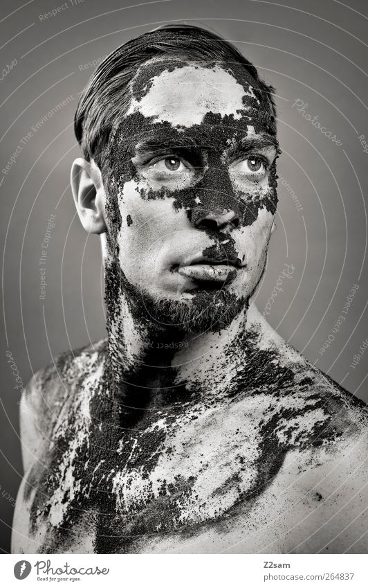 decay Coffee Human being Masculine Young man Youth (Young adults) 18 - 30 years Adults Sculpture Short-haired Old Sadness To dry up Dirty Dark Strong Honor
