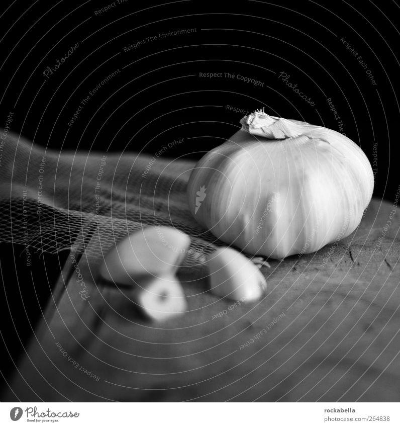 structural fetish. Food Vegetable Garlic Garlic bulb Esthetic Still Life Black & white photo Studio shot Neutral Background Shallow depth of field