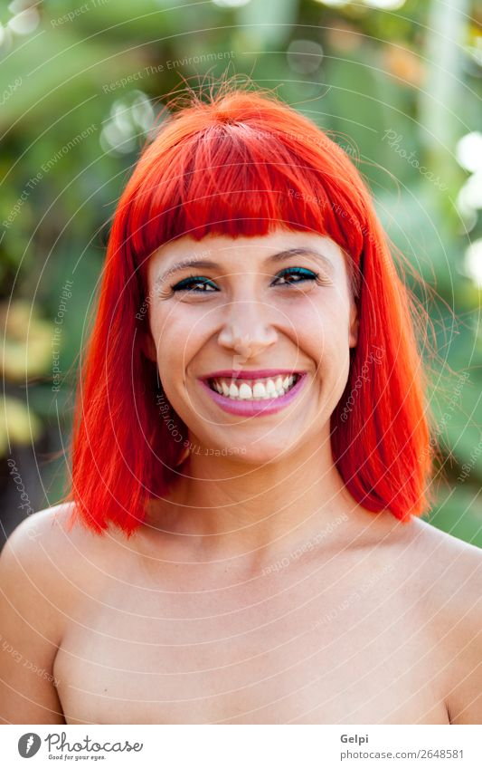Beautiful portrait of a red hair girl Woman Human being Nature Summer Plant Colour White Red Eroticism Joy Face Lifestyle Adults Happy Style