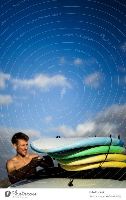 #AS# preparing 1 Human being Esthetic Surfing Surfer Surfboard Surf school Preparation Vacation & Travel Vacation photo Vacation mood Adventure