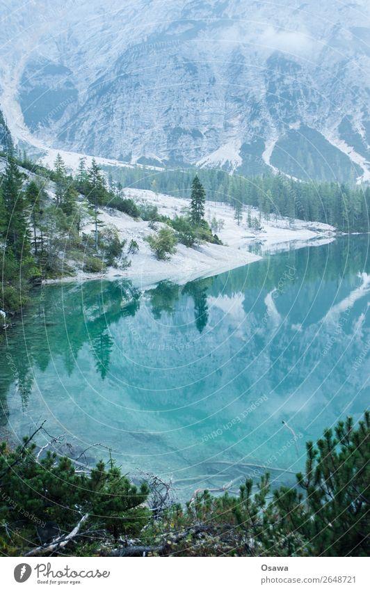 Braies Wild Lake - Lago die Braies Environment Nature Landscape Tree Water Sky Clouds Alps Mountain South Tyrol Pragser Wildsee Lake Prags Wildsee Hiking Blue
