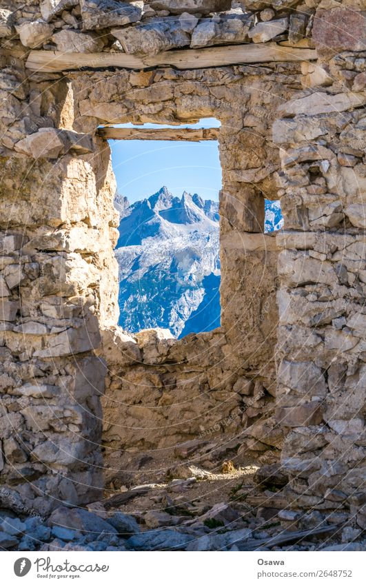 Rifugio Popena Italy South Tyrol Alps Mountain Rock Building Peak Landscape Dolomites Hiking Mountaineering Climbing Nature Hut Alpine pasture Destruction