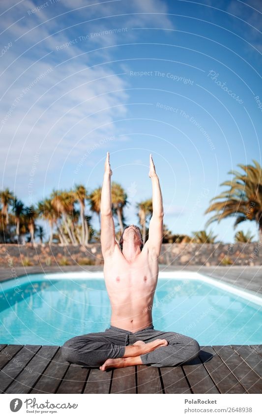 #AS# Energy collector Art To enjoy Swimming pool Relaxation Fitness Human being Masculine Boy (child) Esthetic Calm Yoga Coach capable of improvement Unathletic