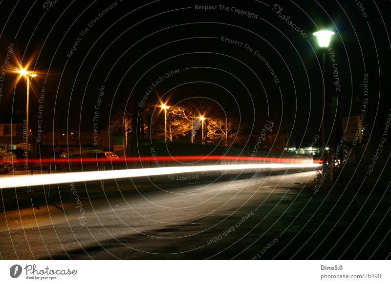 Nightshot No.4 Lamp Light Lantern White Red Fence Long exposure Street