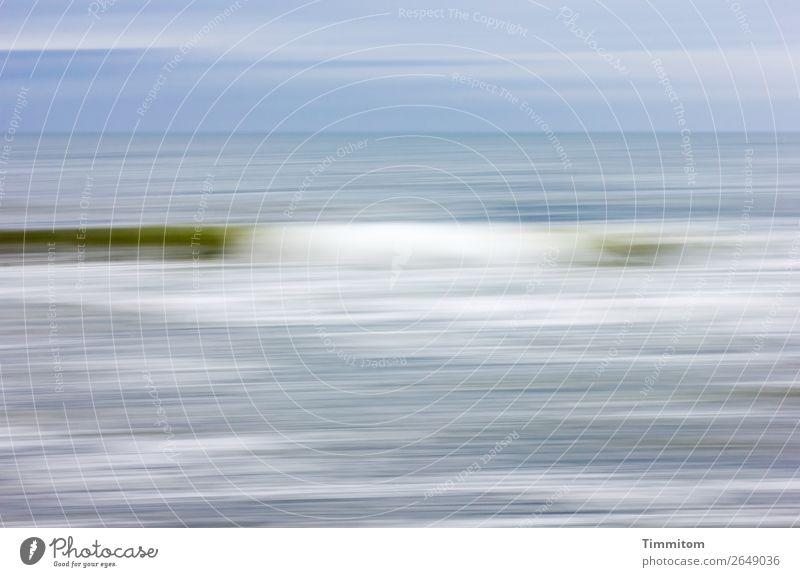 A gentle wave Vacation & Travel Environment Nature Elements Water Beach North Sea Denmark Movement Esthetic Blue Green White Joie de vivre (Vitality) Serene