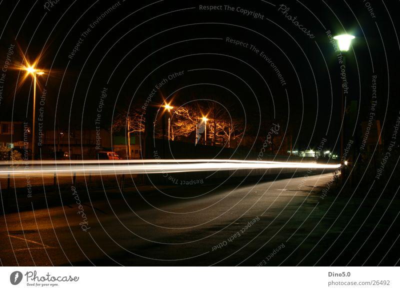 Nightshot No.3 Lamp Light Lantern White Fence Red Long exposure Street Graffiti