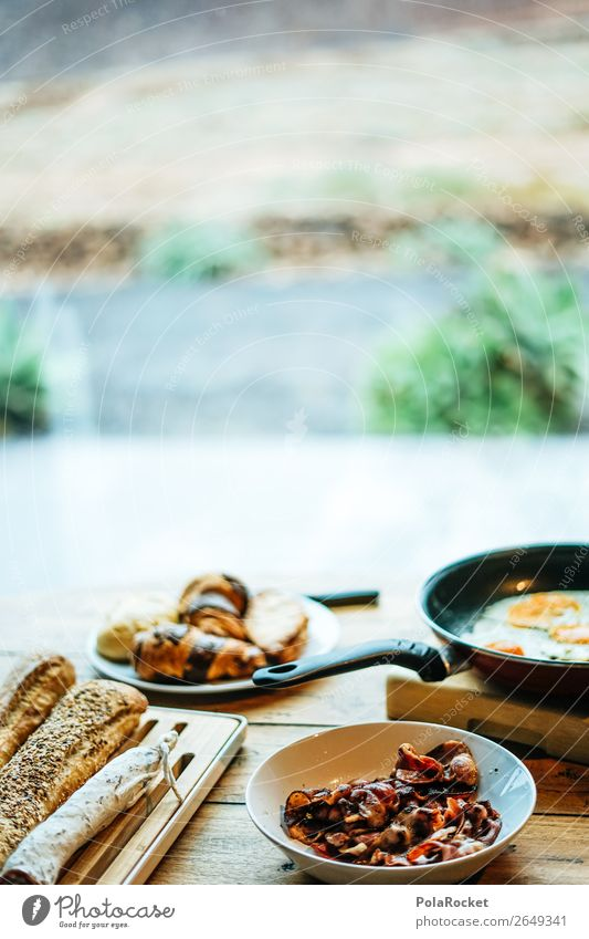 #AS# breakfast is the best Lifestyle Happy Breakfast Croissant Baguette Pan Egg Bacon Productive Breakfast table Morning break Surprise Joy To enjoy
