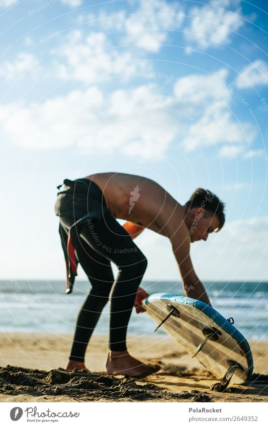 #AS# Let's go ! Lifestyle Sports Human being Masculine 1 Esthetic Ocean Aquatics Surfing Surfer Surfboard Surf school Vacation & Travel Vacation photo
