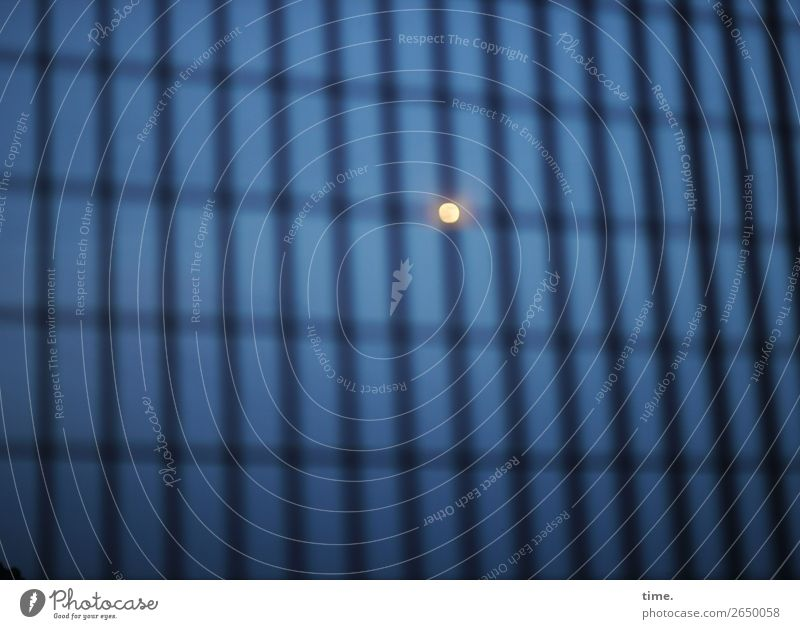 #° Hoarding Grating Sky Night sky Moon Metal Sphere Line Stripe Network Dark Creepy Emotions Serene Patient Calm Endurance Unwavering Hope Humble Loneliness