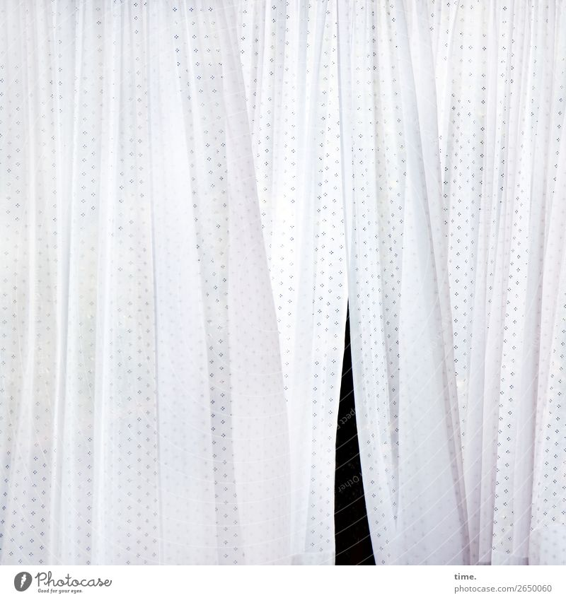 Slit in textile Curtain Clothesline Laundry Textiles Drape Line Stripe Hang Bright Black White Life Contentment Movement Design Discover Mysterious Inspiration