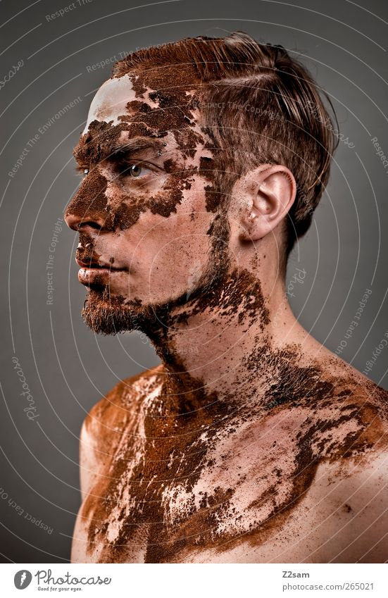 Expiry II Coffee Human being Masculine Young man Youth (Young adults) 18 - 30 years Adults Sculpture Short-haired Old Sadness To dry up Dirty Dark Strong Honor