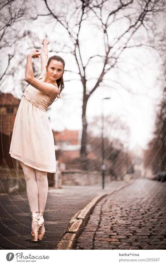 Human being Youth (Young adults) Beautiful Adults Street Feminine Eroticism Dance Pink Elegant Esthetic Young woman 18 - 30 years Dress Fitness Athletic