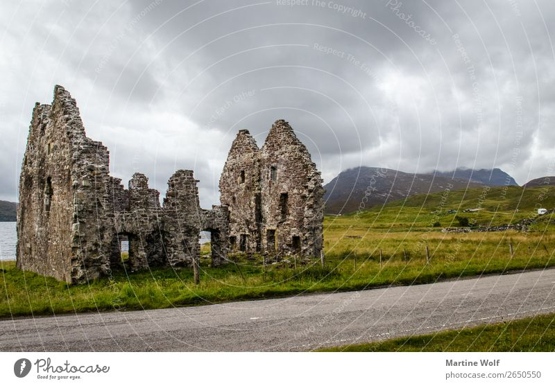 Vacation & Travel Clouds Mountain Europe Transience Decline Ruin Scotland Great Britain Highlands