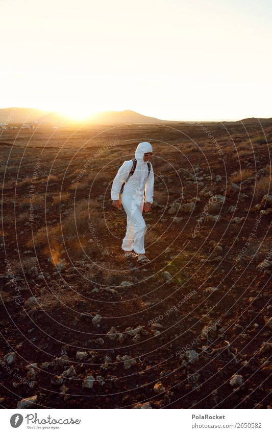 #AS# Lost Human being Masculine Young man Youth (Young adults) Walking Costume Carnival costume Desert Mars Martian landscape White Tidy up Doomed Moon