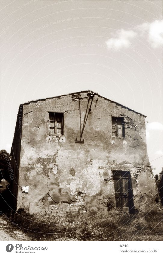 house.italy2 House (Residential Structure) Building Derelict Architecture Old Black & white photo Perspective