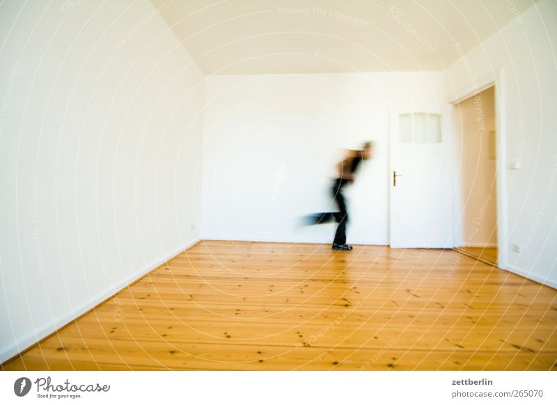 Human being Man House (Residential Structure) Adults Wall (building) Wall (barrier) Flat (apartment) Going Walking Target Running Wooden floor Exit route