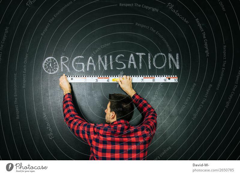 Organization - Word on a blackboard organization Organized Man planning Business Arrangement Success Blackboard Chalk structure
