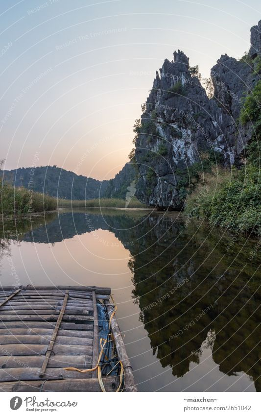 Van Long - Ninh Binh (Vietnam) Vacation & Travel Far-off places Freedom Expedition Nature Landscape Elements Water Cloudless sky Sunrise Sunset