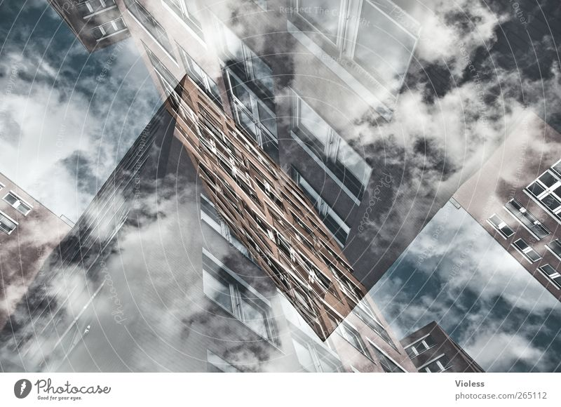 limbo Sky Clouds House (Residential Structure) High-rise Building Window Dream Double exposure Colour photo Experimental