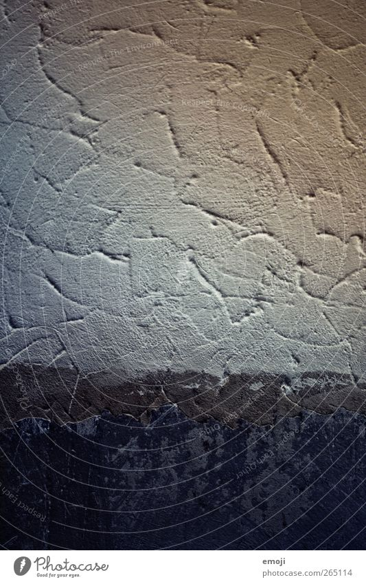 free space Wall (barrier) Wall (building) Facade Plaster Ingrain wallpaper Concrete Concrete wall Old Blue Colour photo Interior shot Deserted Copy Space top