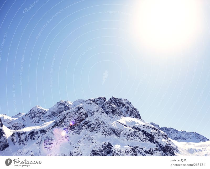 Nature Sun Landscape Mountain Cold Environment Fresh Esthetic Elements Alps Austria Snowscape Winter vacation High mountain region Alpine Snow layer
