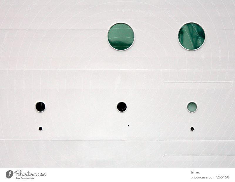 KI09   Marbleship Means of transport Navigation Cruise Passenger ship Cruise liner Hollow Glass Metal Circle Circular Esthetic Round Green Black White