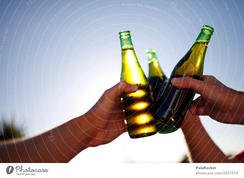 #AS# To friendship Beverage Alcoholic drinks Joy Beer Beer garden Bottle of beer Glassbottle Kick off Feasts & Celebrations Friendship Ritual Peer pressure