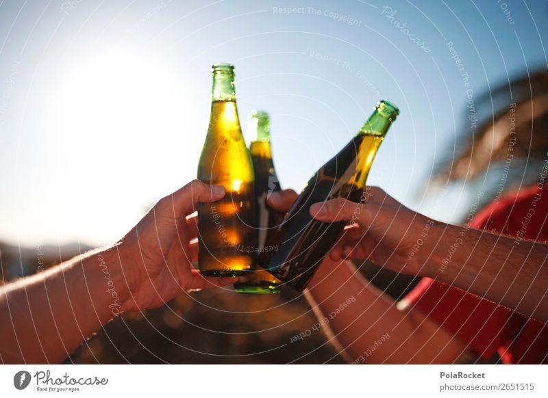 #AS# Cheers Guys 3 Human being Esthetic Beer Beer garden Bottle of beer Beer tent cheers Toast Beverage Party Alcoholic drinks To enjoy Vacation & Travel