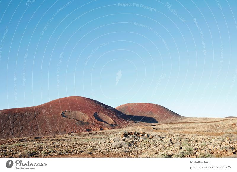 #AS# Volcano Environment Nature Landscape Summer Climate Beautiful weather Cactus Hill Rock Esthetic Mars Martian landscape Moon Volcanic crater Fuerteventura