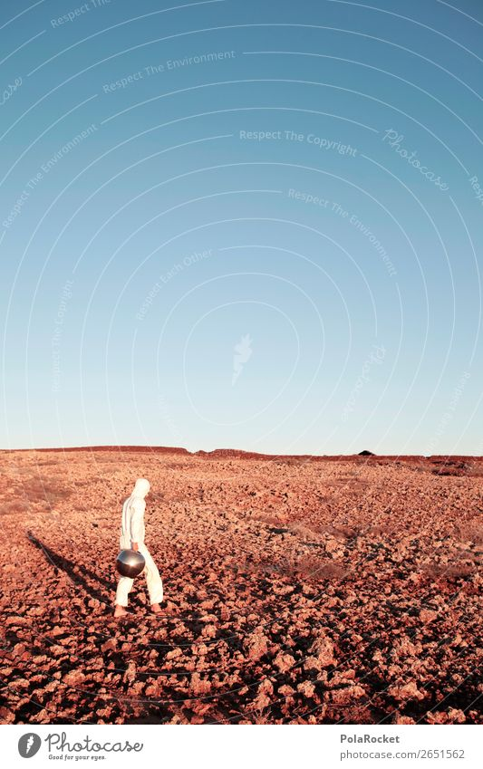#AS# Where To Go? Art Work of art Esthetic Mars Martian landscape Astronaut Astrophotography Stupid Disguised Exceptional Costume White little man Discover
