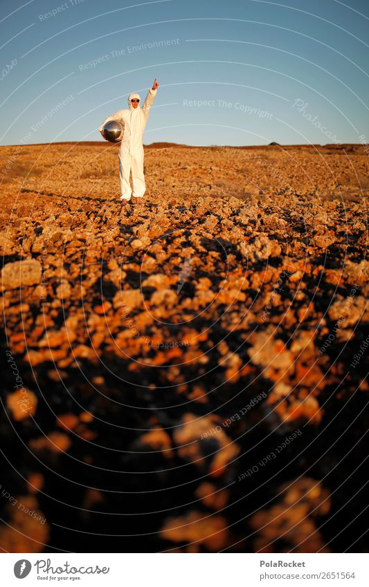 #AS# MoonMan Art Esthetic Mars Martian landscape Lunar landscape Costume Carnival costume Astronaut Astronomy Space helmet Sparse Stony Future Futurism