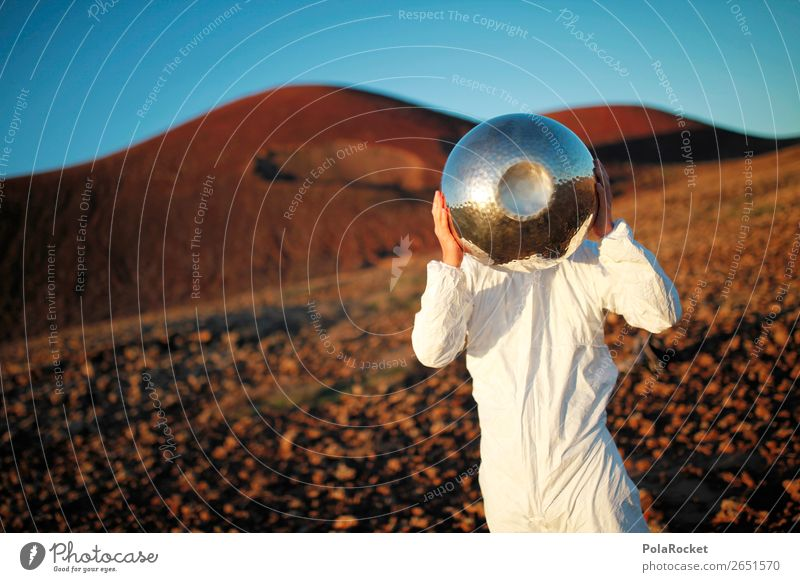 #AS# ALIA Art Esthetic Astronaut Astronomy Astronomer Universe Mars Martian landscape Extraterrestrial being salad bowl Fuerteventura Costume Foreign Stranger
